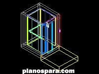 imagen Ascensor en ·3D