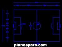 imagen Planos de Cancha De Futbol dwg