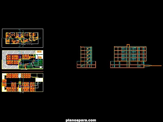 imagen Planos de edificio de 5 pisos