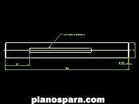 imagen Planos de eje canteadora dwg