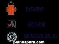 imagen Planos de Extintor y detector de humo