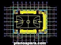 imagen Planos de Gimnasio Basket