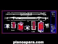 imagen Planos de Puente colgante