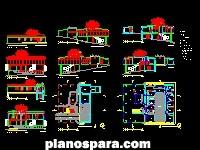 imagen Planos de 01 Casa de Vidro 14 dwg