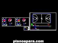 imagen Planos de Cancha de basquetbol y Banca