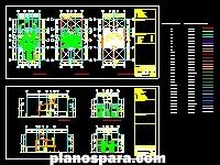 Planos de Cálculo de zapatas de concreto armado