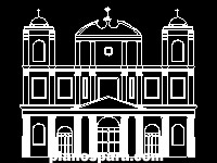 Planos de catedral fachada