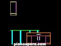 Planos de Conjunto escritorio y armario