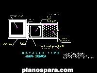 Planos de detalle de junta sismica