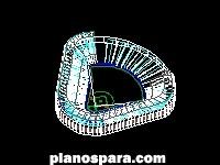 imagen Planos de Estadio De Beisbol dwg