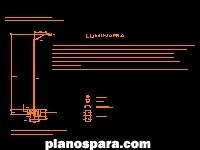 Planos de luminaria dwg