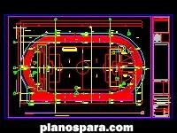 imagen Planos de pista de atletismo