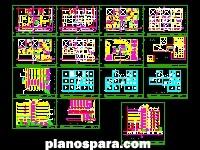 Planos de Plano edificio de departamentos