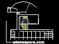 Planos de planta de koshino house a escala
