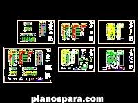 Planos de Plaza comercial y departamentos