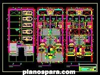 imagen Planos de vivienda multifamiliar 1180 mts X 25 mts