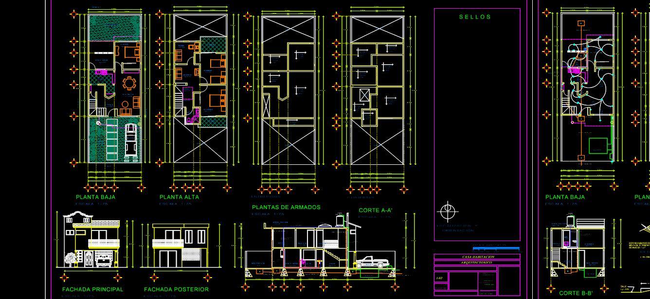 Planos de Casa de 2 pisos