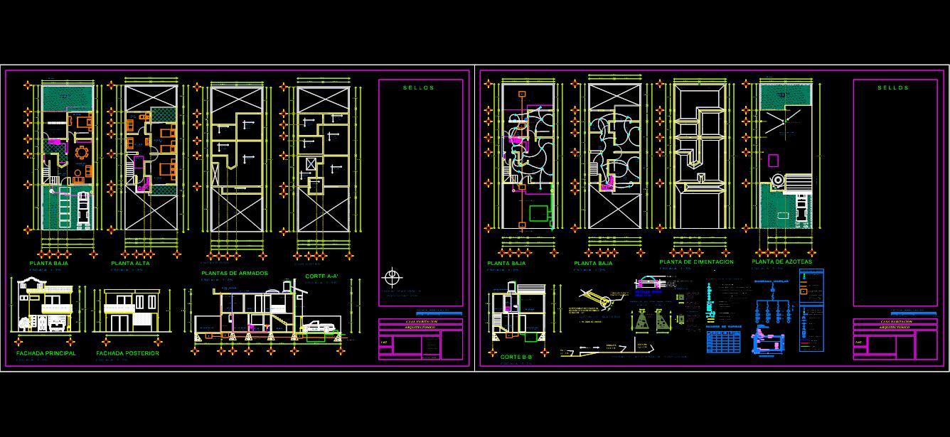 Casa de habitación de Dos plantas